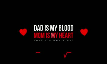 ❤️ లవ్ - DAD IS MY BLOOD MOM IS MY HEART 199VMO DAD IS MY BLOOD MOM IS MY HEART LOVE YOU MOM & DAD - ShareChat