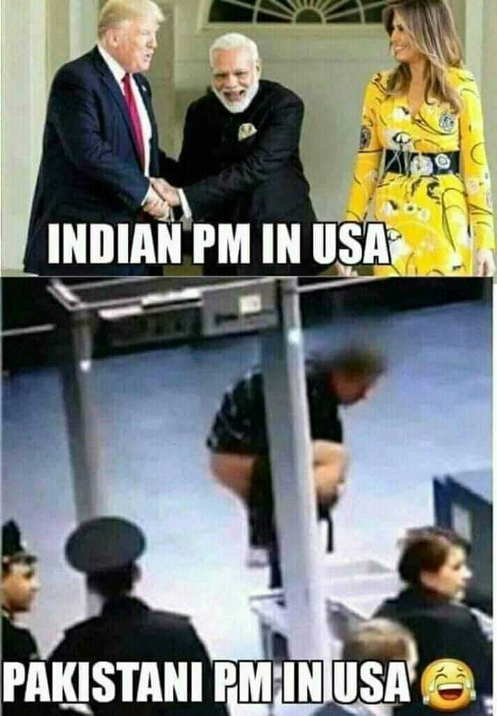 18+ जोक्स और फ़ोटो - INDIAN PM IN USA PAKISTANI PM IN USA . - ShareChat