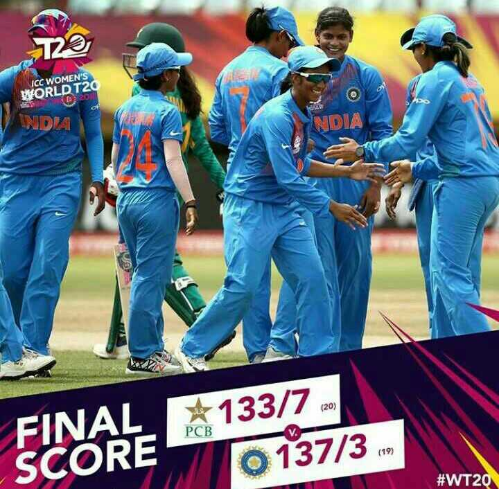 🏏INDW vs PAKW T20 - ICC WOMEN ' S WORLD T2 2ON INDA DIA ( 20 ) FINAL PCB * 133 / 7 2 0137 / 3 . SCORE # WT20 - ShareChat
