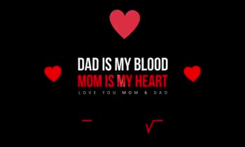 📜 માતા-પિતા કોટ્સ - DAD IS MY BLOOD MOMIS MY HEART DAD IS MY BLOOD MOM IS MY HEART LOVE YOU MOM & DAD - ShareChat
