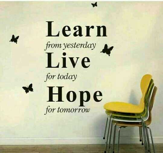 quotes - Learn from yesterday Live for today Hope omorrow - ShareChat
