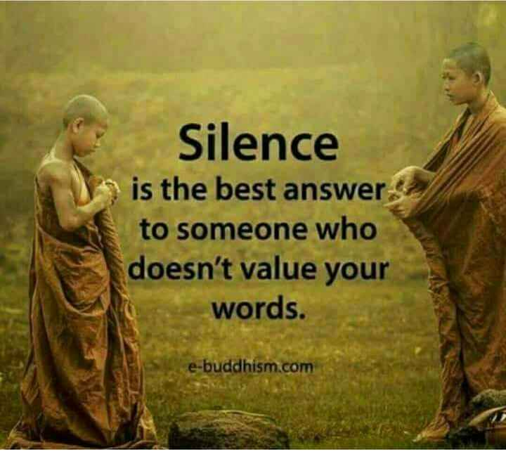 osho......! - Silence is the best answer to someone who doesn ' t value your words . e - buddhism . com - ShareChat