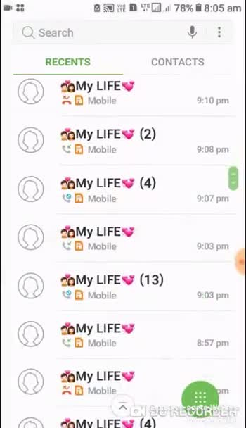 📱 Dubbed ਵੀਡੀਓਜ਼ - . . . 78 % 8 : 06 am Q Search RECENTS VODNE CONTACTS 343 am My LIFE Mobile ( 3 ) 5 : 34 am My LIFE Mobile ( 2 ) 12 : 54 am My LIFE D Mobile 12 : 37 am My LIFE KD Mobile 12 : 36 am My LIFE D Mobile 12 : 18 am My LIFE Mobile 12 : 17 am PaMy LIFT _ D Mobile SE RESURSER | # n IEil 78 % # 8 : 06 am Q Search RECENTS CONTACTS D Mobile 6 : 07 pm ਬਠਿੰਡੇ ਵਾਲੀ 2nov | ( 3 ) Mobile 3 : 40 pm ਬਠਿੰਡੇ ਵਾਲੀ 2nov ( 2 ) . 1 Mobile 3 : 30 pm ਨ ਬਠਿੰਡੇ ਵਾਲੀ 2nov ( 2 ) Mobile 2 : 55 pm ਬਠਿੰਡੇ ਵਾਲੀ 2no . . . ( 3 ) ਨੂੰ D Mobile 2 : 42 pm ਬਠਿੰਡੇ ਵਾਲੀ 2nov % D Mobile 2 : 30 pm ਬਠਿੰਡੇ ਵਾਲੀ 2nov D Mobile 16 pm ਨvਬਠਿੰਡtivisSF R abile - ShareChat