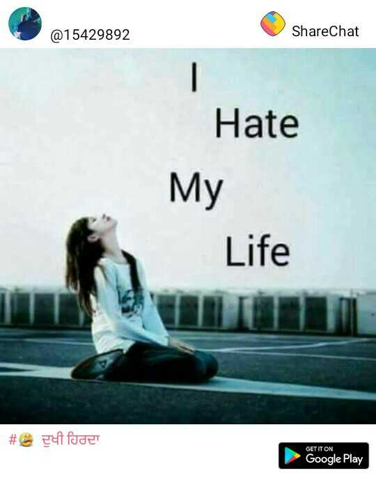rabba ve by rahat fateh ali khan - @ 15429892 ShareChat Hate My Life # et foder GET IT ON Google Play - ShareChat