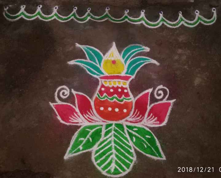 rangoli art - 2018 / 12 / 210 - ShareChat