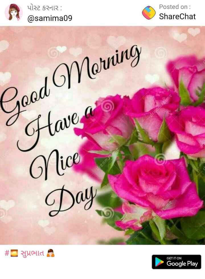sc/st - પોસ્ટ કરનાર : @ samima09 Posted on : ShareChat Good Morning Have ato Nice Beam # Yolda GET IT ON Google Play - ShareChat