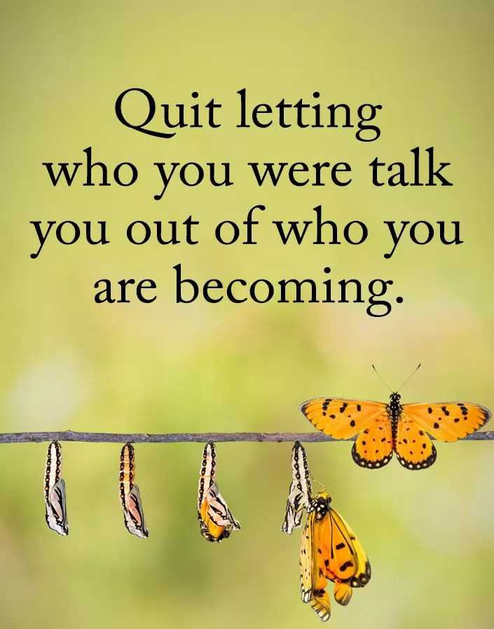 ✅ - Quit letting who you were talk you out of who you are becoming - ShareChat