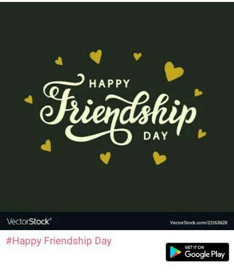 💕💕💕happy friendship day 💕💕💕💕 - HAPPY DAY VectorStock com/21163628 #H appy Friendship Day GETITON Google Play - ShareChat