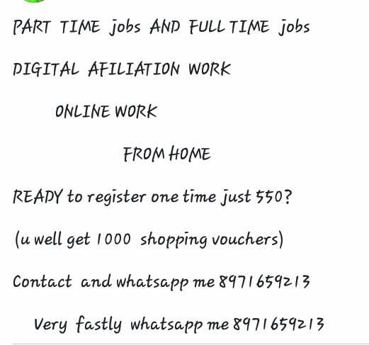 happy ganesh chathurthi - PART TIME jobs AND FULL TIME jobs PIGITAL AFILIATION WORK ONLINE WORK FROM HOME READY to register one time just 550 ? ( u well get 1000 shopping vouchers ) Contact and whatsapp me 8971659213 Very fastly whatsapp me 8971659213 - ShareChat