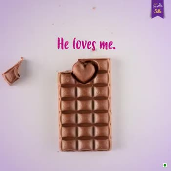#happy chocolate day🍫 - Dunya Sick He loves me . On there : Pop yours Heart out . * * Dairy Milk . is Say it with Silk Sille SPECIAL EDITION - ShareChat