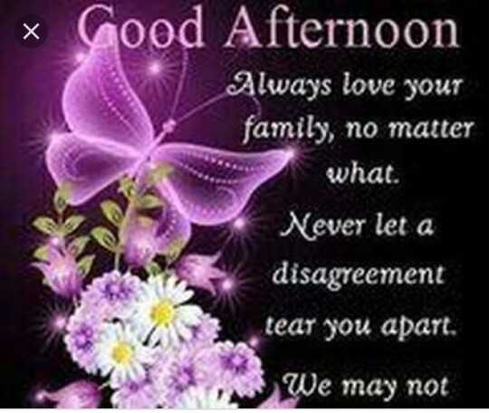Good Afternoon - * Good Afternoon Always love your family , no matter what . Never let a disagreement tear you apart . We may not - ShareChat
