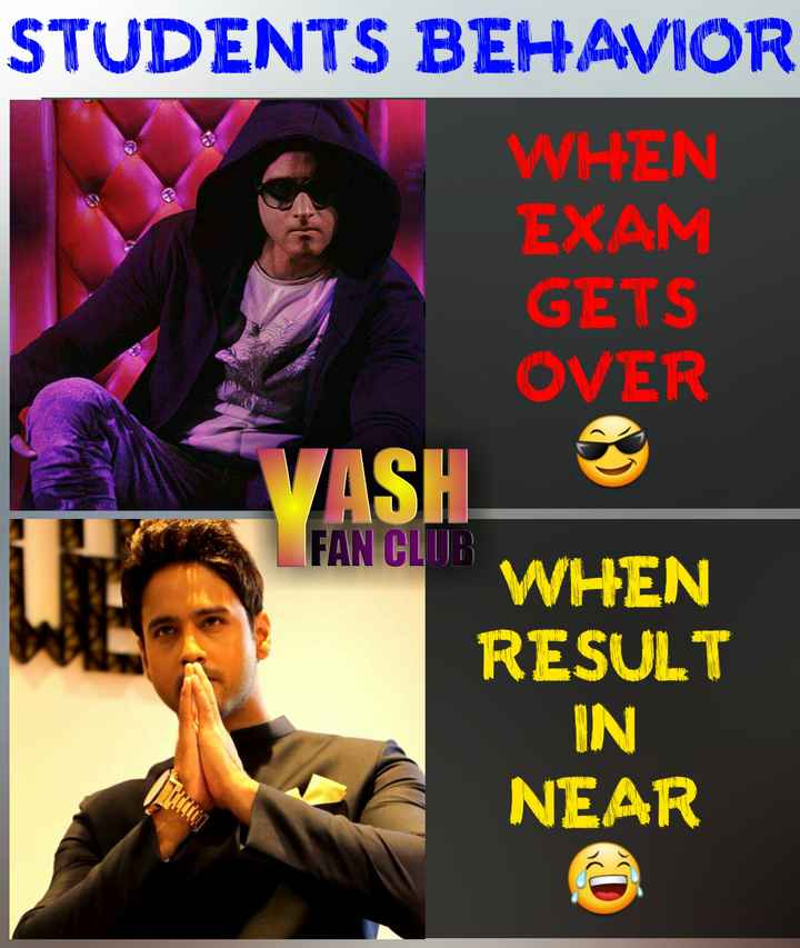 Exam_জোকস - STUDENTS BEHAVIOR WHEN EXAM GETS OVER VASH WHEN RESULT IN NEAR FAN CLUB - ShareChat