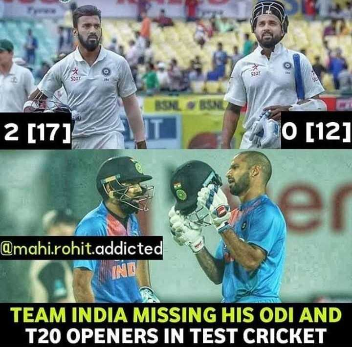 स्पोर्ट न्यूज - stor 2 [ 17 ] 10 ( 12 ) @ mahi . rohit . addicted IND TEAM INDIA MISSING HIS ODI AND T20 OPENERS IN TEST CRICKET - ShareChat