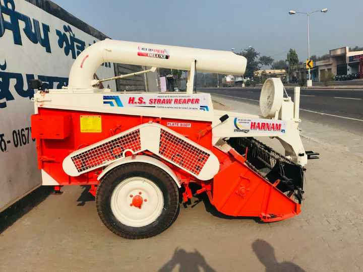 🌾 खेती की तकनीक एवं जानकारी - ( ODERN DELUXE INDIAS NO REAPER TECHNOLOGY S . STRAW REAPER TESTED & APPROVED BY GOVT OF INDIA ANO 2000 PLATE BODY HARNAM STRAWREAPER 7 - 0167 - ShareChat