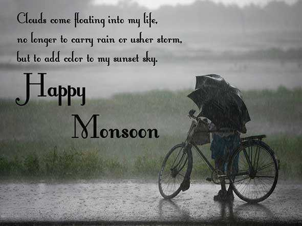 मानसून की दस्तक - Clouds come floating into my life . no longer to carry rain or usher storm , but to add color to my sunset sky . Happy Monsoon - ShareChat