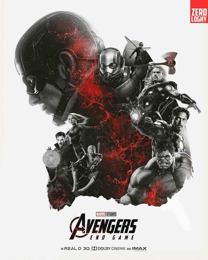 hollywood heroes - ZERO LOGHY MARVEL STUDIOS AVENGERS END GAME IN REALD 3D . DO DOLBY CINEMA AND IMAX - ShareChat