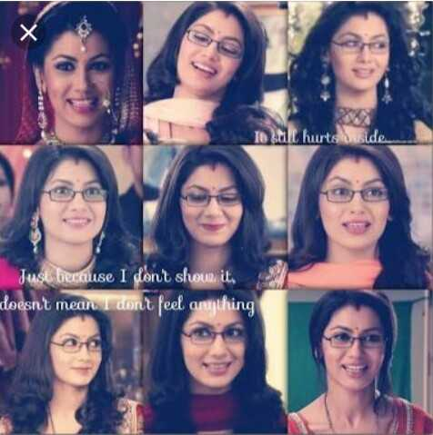 kumkum bhgya - lo still hurts side Just because I don ' t shoue it , doesn ' t mean I don ' t feel anything - ShareChat