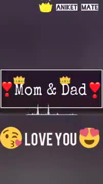 my mom & dad 💖 - ANIKET MATE Mom & Dad LOVE YOU ANIKET MATE Mom & Dad LOVE YOU - ShareChat