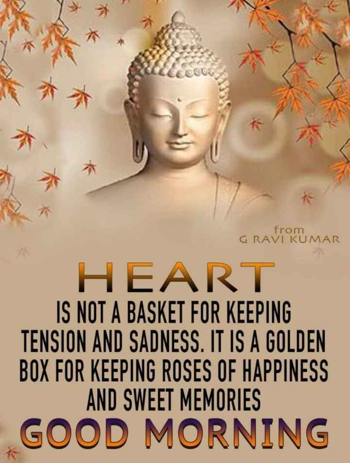 सुई धागा - from GRAVI KUMAR HEART IS NOT A BASKET FOR KEEPING TENSION AND SADNESS . IT IS A GOLDEN BOX FOR KEEPING ROSES OF HAPPINESS AND SWEET MEMORIES GOOD MORNING - ShareChat