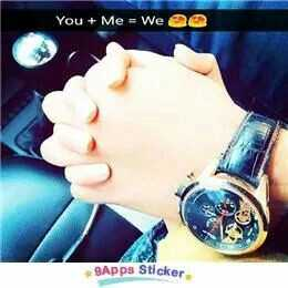 love photo - You + Me = We @ 9Apps Sticker - ShareChat