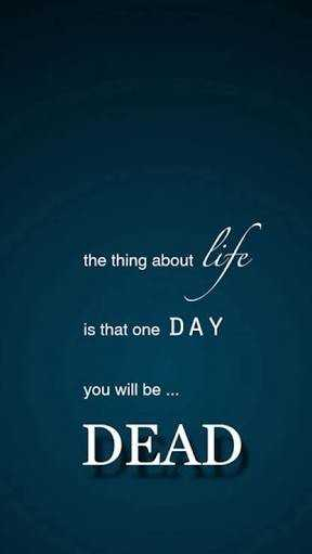 wallpaper - the thing about te is that one DAY you will be . . . DEAD - ShareChat