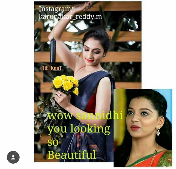 dimple star sansid - Instagram karunakar _ reddy . m TIE Knol WOW sanidhi you looking SO Beautiful - ShareChat