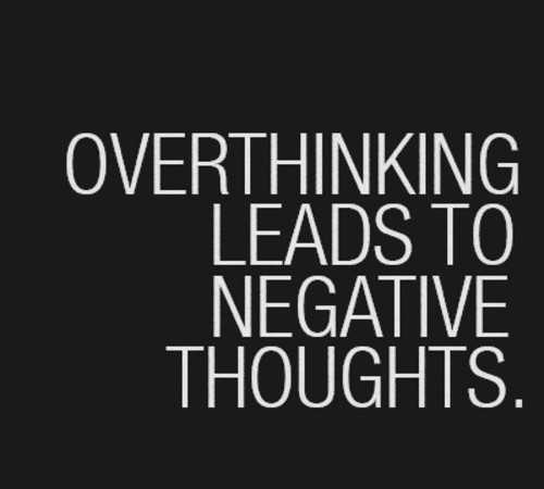 good night - OVERTHINKING LEADS TO NEGATIVE THOUGHTS . - ShareChat