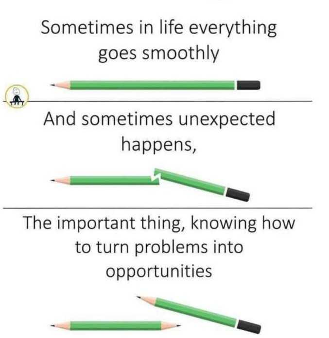 ✅ - Sometimes in life everything goes smoothly And sometimes unexpected happens , The important thing , knowing how to turn problems into opportunities - ShareChat