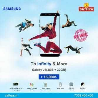 advertising - SAMSUNG SATHYA To Infinity & More Galaxy J6 ( 3GB + 32GB ) 13 , 990 / w 200 sathya . in 7339 400 400 - ShareChat