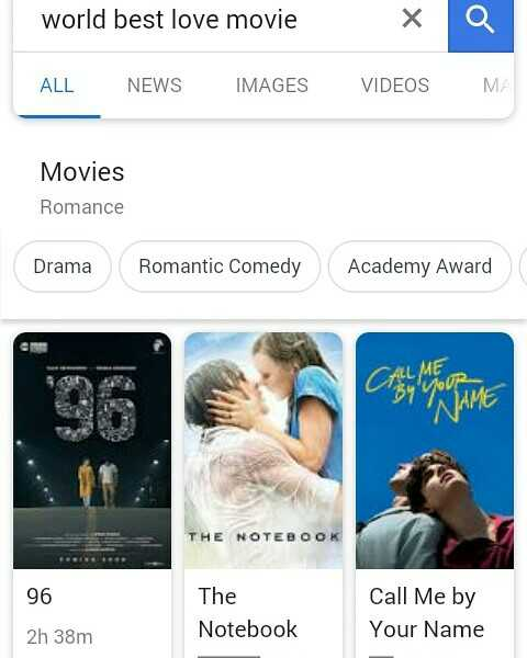 #Me Too - world best love movie ALL NEWS IMAGES VIDEOS MA Movies Romance Drama Romantic Comedy Academy Award THE NOTEBOOK 96 The Notebook Call Me by Your Name 2h 38m - ShareChat