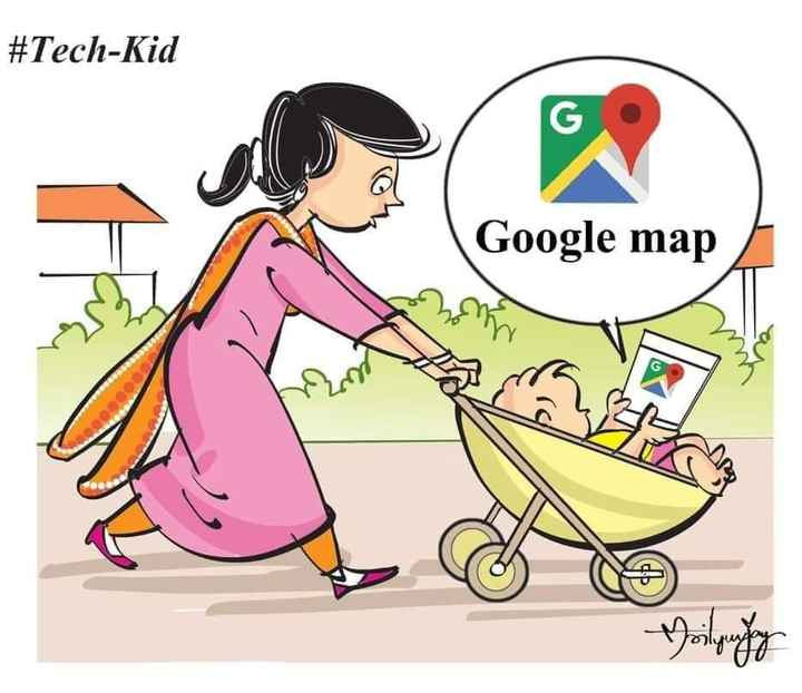 Thoughts Of Days - # Tech - Kid Google map - ShareChat