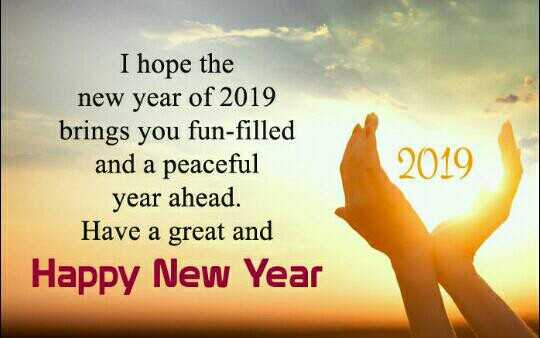ସ୍ମୃତି ରେ ୨୦୧୮ - I hope the new year of 2019 brings you fun - filled and a peaceful year ahead . Have a great and Happy New Year 2019 - ShareChat