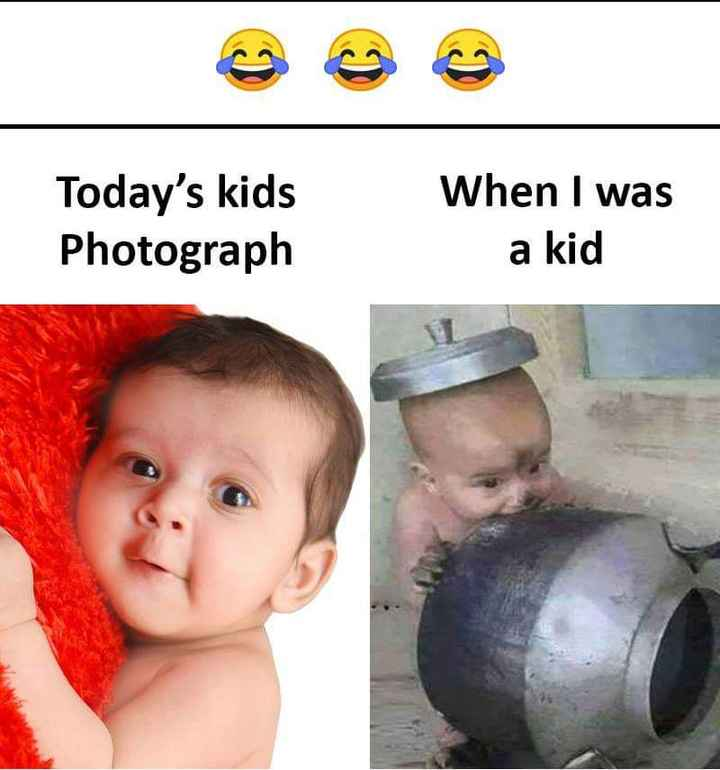 i love babys - Today ' s kids Photograph When I was a kid - ShareChat