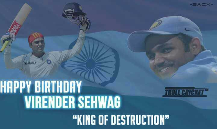 "Happy birthday sehwag - SAHARA HAPPY BIRTHDAY TOLLGICE VIRENDER SEHWAG KING OF DESTRUCTION "" - ShareChat"