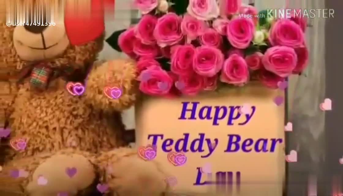 for my love - @ user47491396 Made with KINEMASTER HAPO TEDDY BEAR DAY @ user47491396 - ShareChat