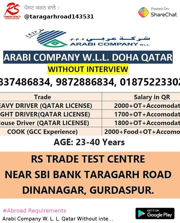 Abroad Requirements Images RS Trade Test Centre Dinanagar