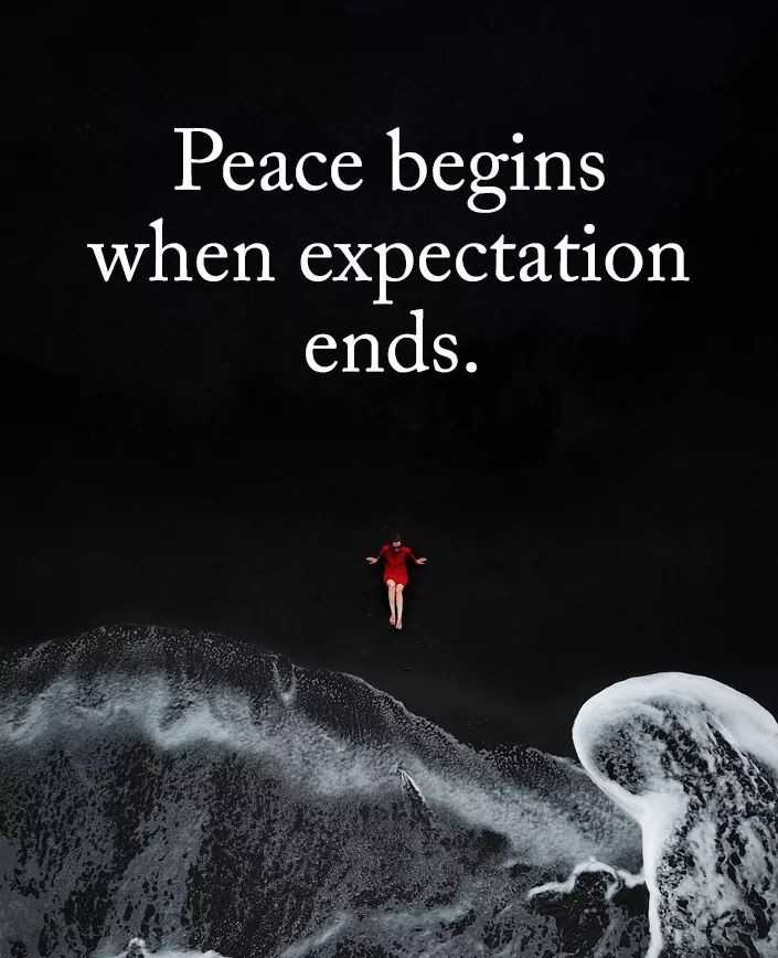 ✅ - Peace begins when expectation ends . - ShareChat