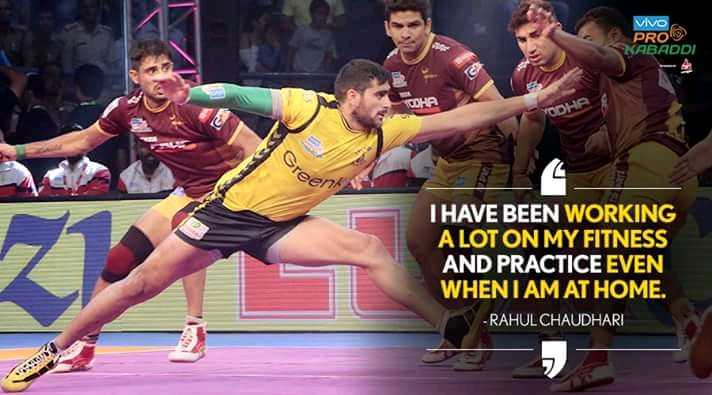 vivo pro kabddi 2018 - VIVO PROS USABADDI Sreen I HAVE BEEN WORKING A LOT ON MY FITNESS AND PRACTICE EVEN WHENTAM AT HOME . - RAHUL CHAUDHARI - ShareChat