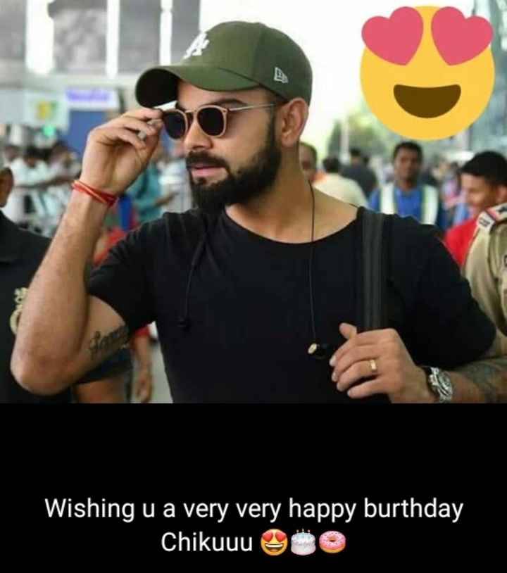 virat kohli - Wishing u a very very happy burthday Chikuuu QÜO - ShareChat
