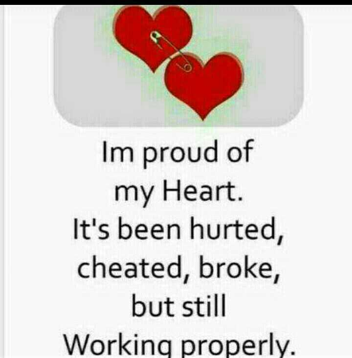 beautiful quotations - Im proud of my Heart . It ' s been hurted , cheated , broke , but still Working properly . - ShareChat