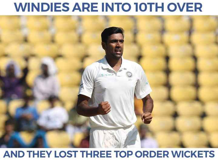 IND vs WI - WINDIES ARE INTO 10TH OVER орро AND THEY LOST THREE TOP ORDER WICKETS - ShareChat