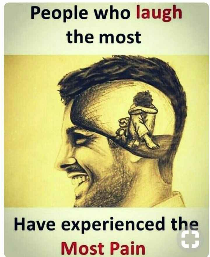 inspiring - People who laugh the most Have experienced the Most Pain - ShareChat