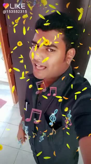 🎸 3D music - LIKE @ 153552315 0 LIKE APP Magic Video Maker & Community - ShareChat