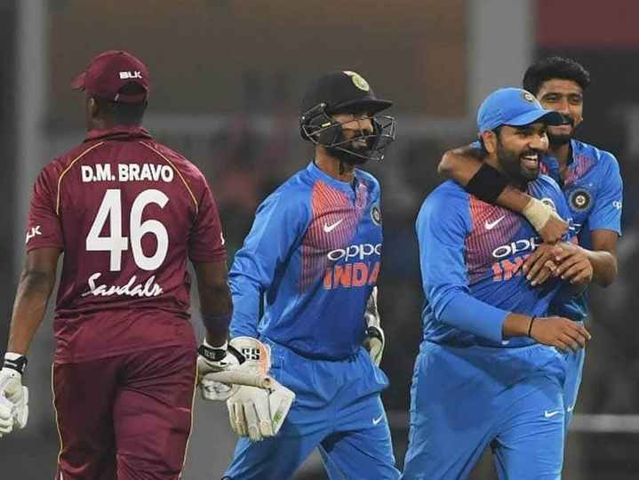 🏏IND vs WI 3rd T20 - D . M . BRAVO Oppo CO 20 andals - ShareChat