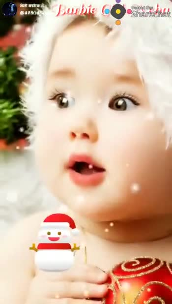 marry christmas - Barbie cu Posted op ha ShareChat SANTA Oh , what fun it is to ride Barbie C Pested Ops Sharechat shared Oh , what fun it is to ride In a one horse open sleigh - ShareChat