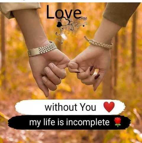 ❤️ब्यूटीफुल लव कोट्स - Love . without You my life is incomplete - ShareChat
