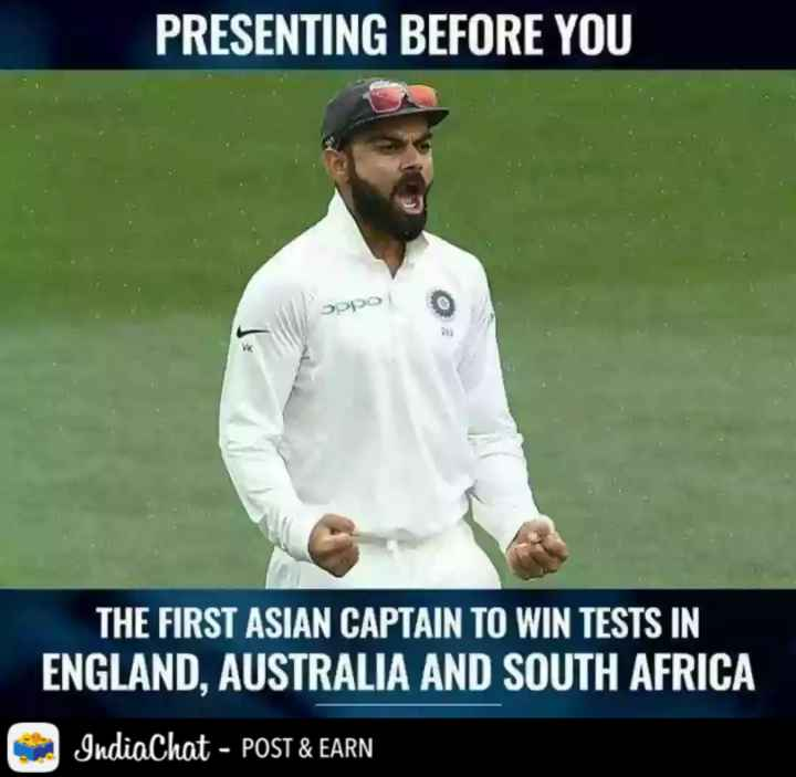 🏏AUS vs IND 1️⃣ Test - PRESENTING BEFORE YOU OPO THE FIRST ASIAN CAPTAIN TO WIN TESTS IN ENGLAND , AUSTRALIA AND SOUTH AFRICA IndiaChat - POST & EARN - ShareChat