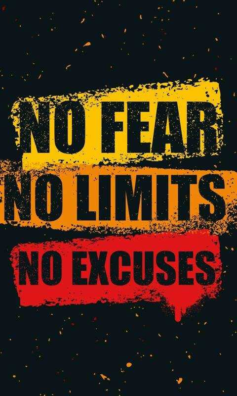 walpapper - NO FEAR ENO LIMITS NO EXCUSES - ShareChat