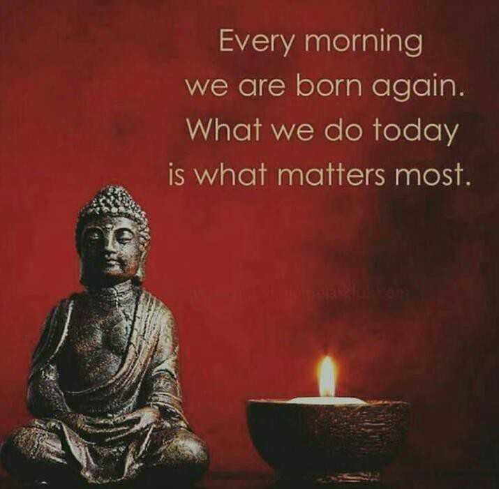 इमेज स्टेट्स - Every morning we are born again . What we do today is what matters most . - ShareChat