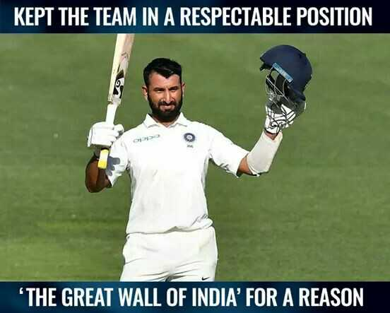 🏏AUS vs IND 1️⃣ Test - KEPT THE TEAM IN A RESPECTABLE POSITION THE GREAT WALL OF INDIA ' FOR A REASON - ShareChat